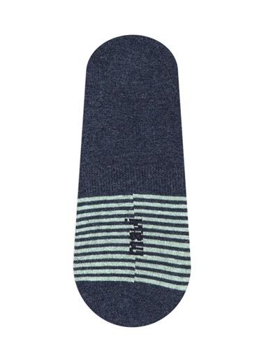 Mavi Erkek  Çizgili Çorap 091739-18790 İndigo